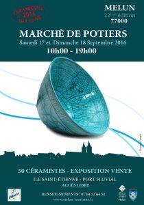 affiche Céramiques sur Seine - Marché de Potiers
