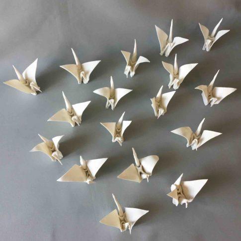 cat-trochu-ceramic-rennes-installation-galerie-2017-mai-origami 3