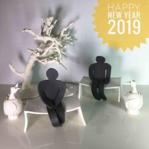Voeux 2019-cat trochu ceramic-Rennes
