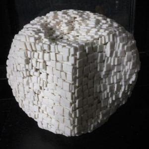 sculpture en porcelaine La quadrature du cercle