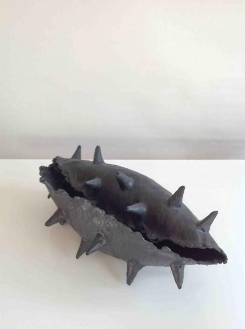 cat-trochu-ceramic-rennes- sculpture-noire