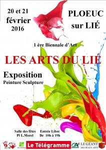 Afffiche Expo biennale Arts du Lié