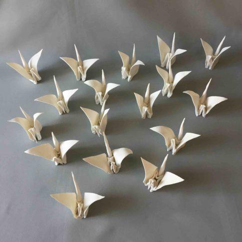 cat-trochu-ceramic-rennes-installation-galerie-2017-mai-origami 1
