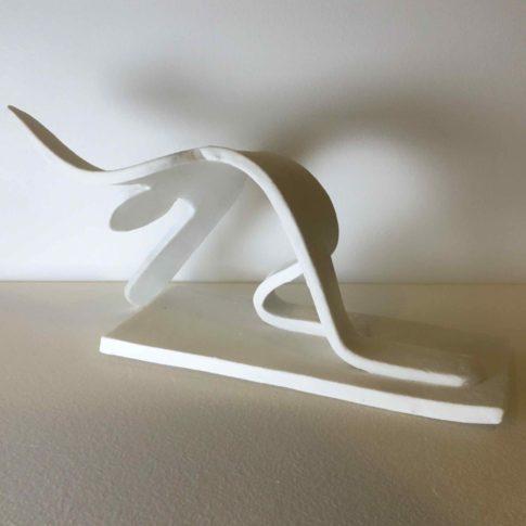 cat-trochu-ceramic-rennes-bretagne-sculpture-génuflexion 3