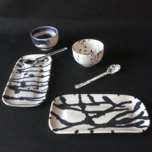 cat trochu ceramic-Rennes-bols-plats-cuillères 1-porcelaine