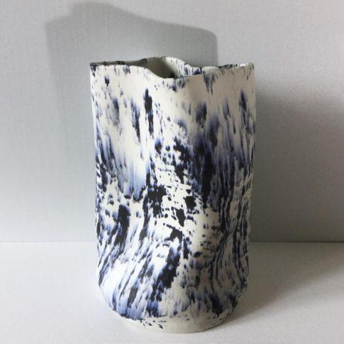 cat trochu ceramic-Vase