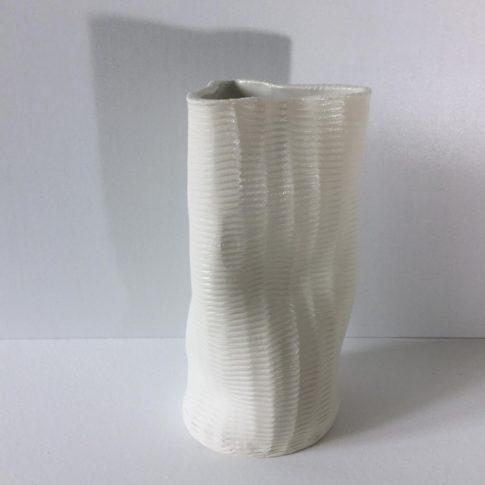 cat trochu ceramic-Vase blanc