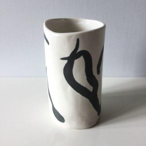 cat trochu ceramic-Vase nériage