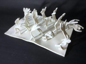 sculpture en porcelaine séisme